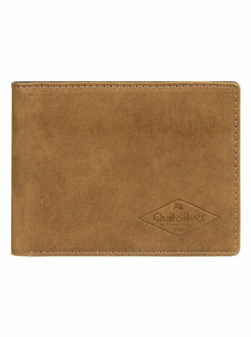 QUIKSILVER MENS WALLET.SLIM VINTAGE III FAUX LEATHER BROWN MONEY CARD PURSE 9W 8